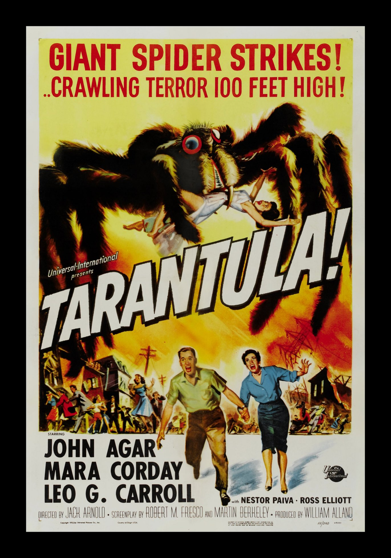 TARANTULA * CineMasterpieces ORIGINAL MOVIE POSTER 1955 ...