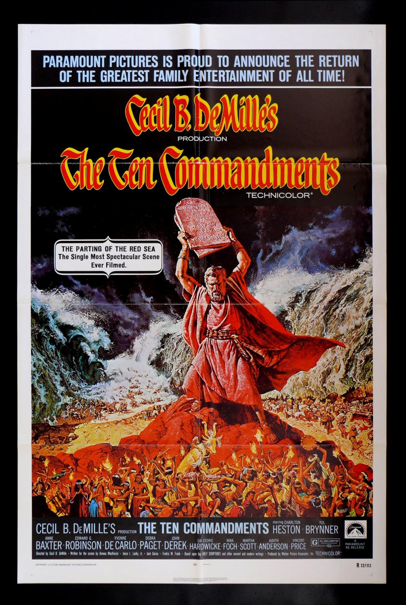 10 Commandments Movie Poster - The Ten Commandments (1956 ...