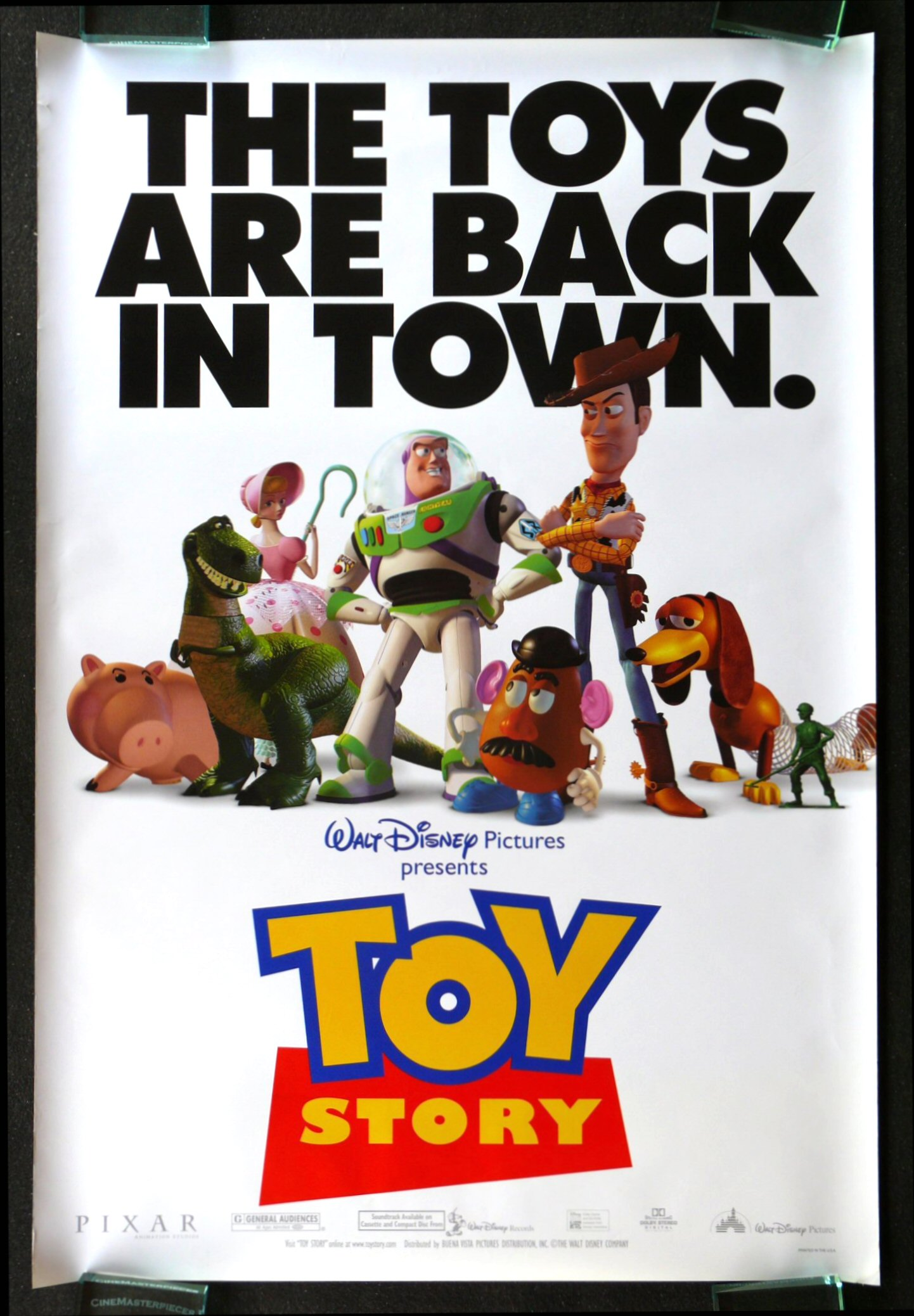 toy story cinemasterpieces 1sh original ds movie poster