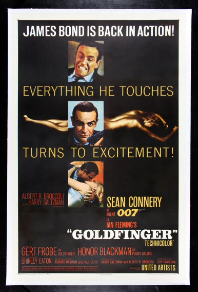 GOLDFINGER CineMasterpieces JAMES BOND 007 VINTAGE ...