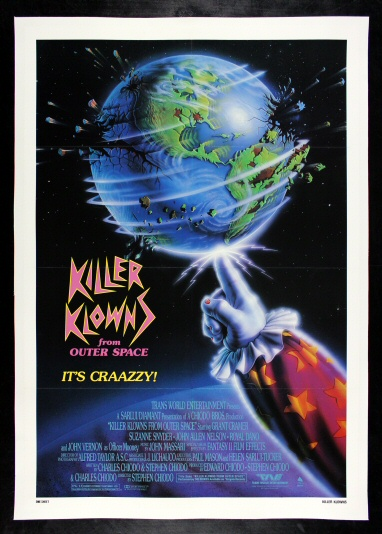 "Killer Klowns From Outer Space Movie Poster 27/""X40/"" LARGE"