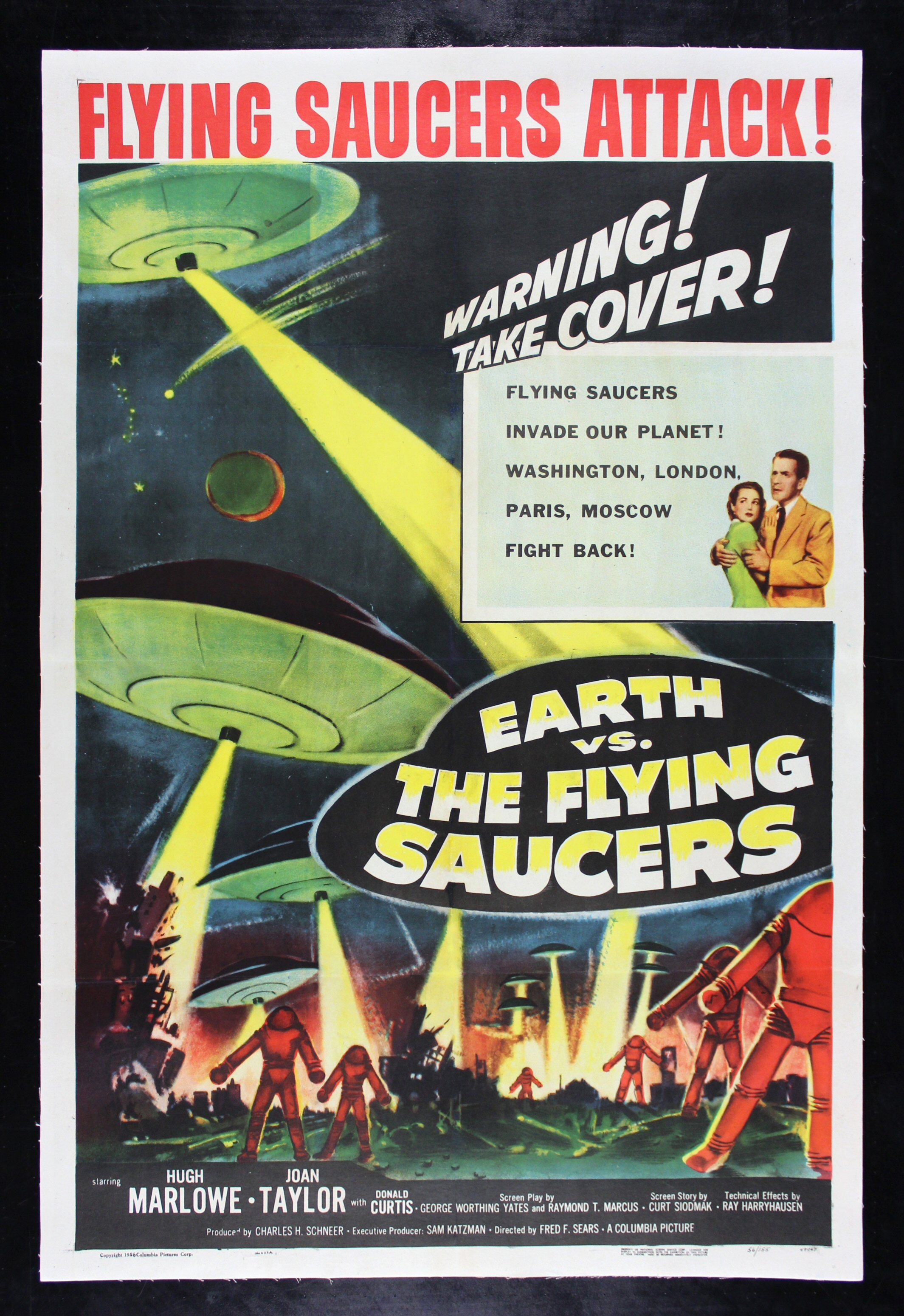 EARTH VS THE FLYING SAUCERS Movie Poster