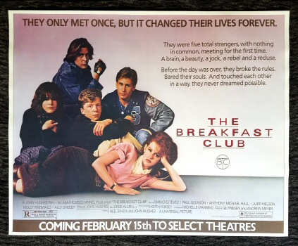 THE BREAKFAST CLUB POSTER  24 X 36  FREE SHIPPING