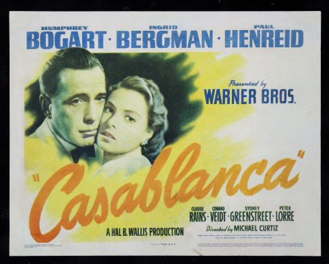 Details About Casablanca Cinemasterpieces Original Movie Poster Title Lobby Card 1942