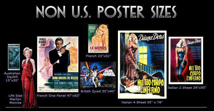 vintage movie poster sizes types kinds cinemasterpiecescom