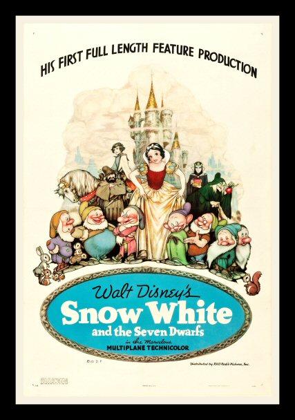 Disney cartoon movie poster print  9 1937 Snow White and the Seven Dwarfs
