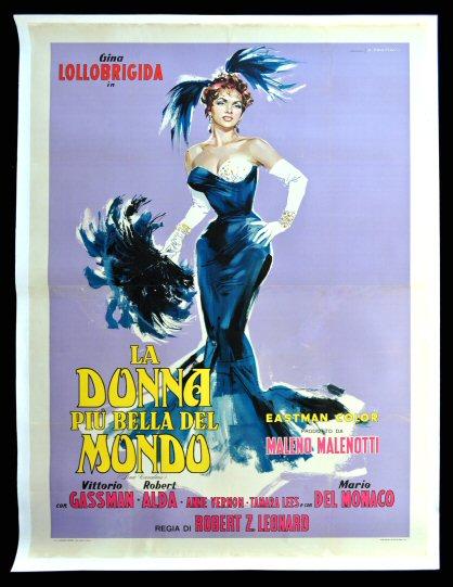 BEAUTIFUL BUT DANGEROUS with Lollobrigida and Gassman Film Movie Poster Original 1955