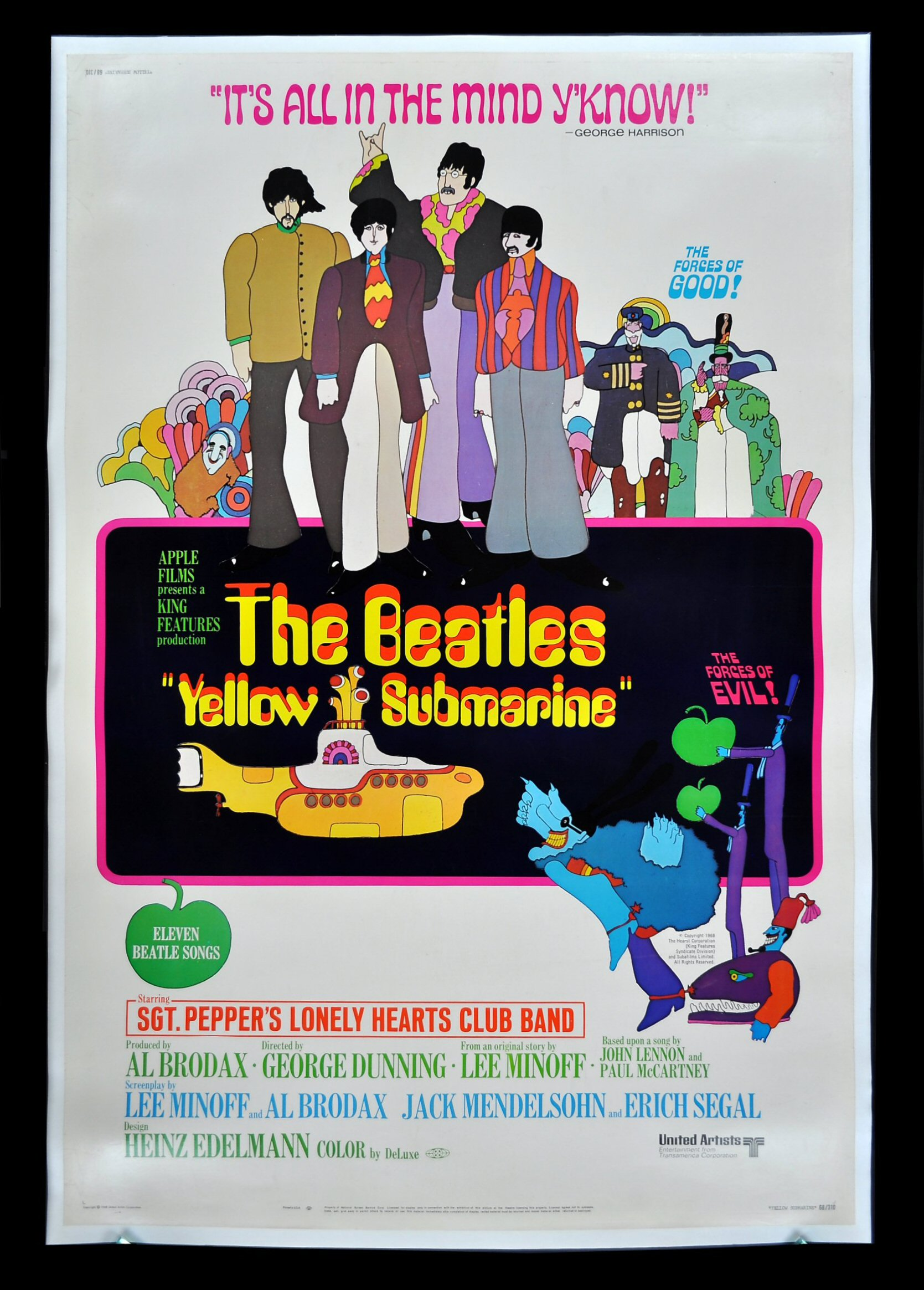 Yellow Submarine Beatles Movie Posters Young Frankenstein Film Cinema CineMasterpieces