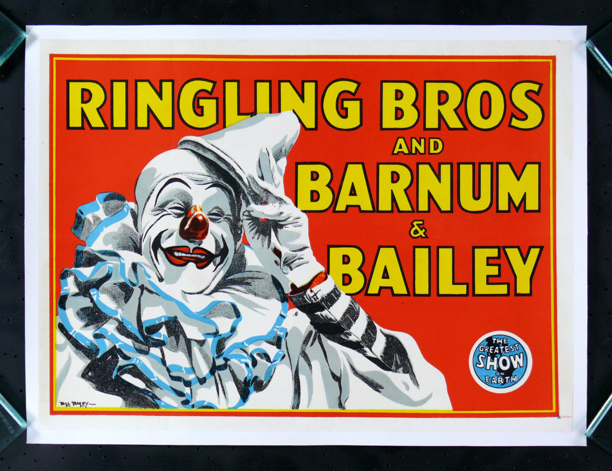 Vintage Barnum /& Bailey Circus Poster circus0015 Art Imprimer A4 A3 A2 A1
