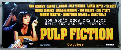 Image result for pulp fiction banner
