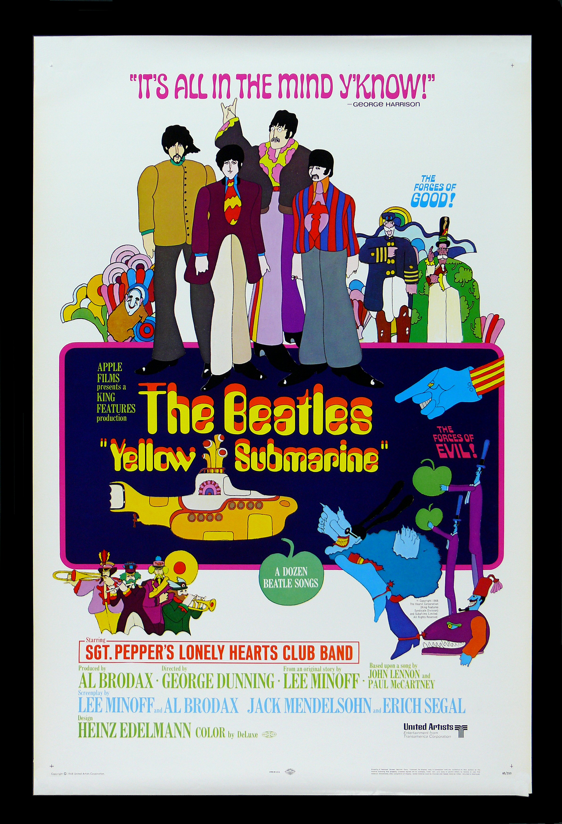 Yellow Submarine Beatles Movie Posters Young Frankenstein ...